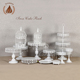Hot selling trendy style white color wedding crystal cake stands