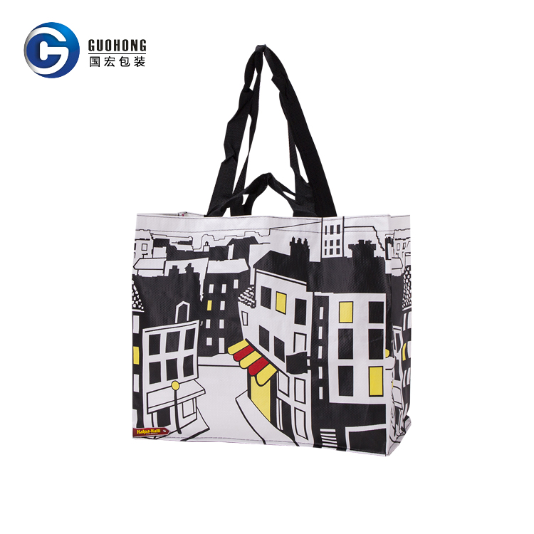 High Quality Custom Beautiful Design Colorful Printing Lamination Woven Pp Tote Shopping Bag