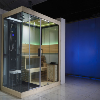 Hotel And Home Use Luxury Sauna Steam Room Shower Combination Construction Project