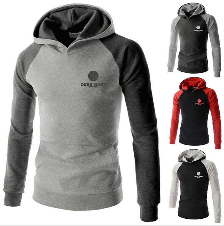 Custom high quality fleece men half zip hooded sweatshirt / hoodies wholesale