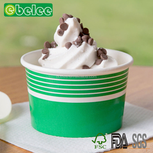 Bowl Type and Single Wall Style Paper Ice Cream Cup Papaer Bowl With Spoon