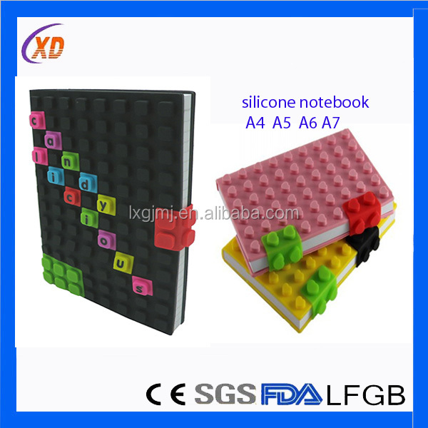 2014 newest A5 silicone school notebook cover designs