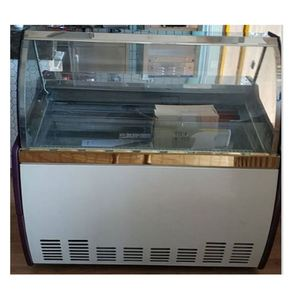 Ce approve mini display freezer/countertop ice cream cabinet/gelato showcase