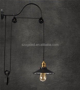Pulley Pendant Light Fixtures Industrial Pulley Single Pendant