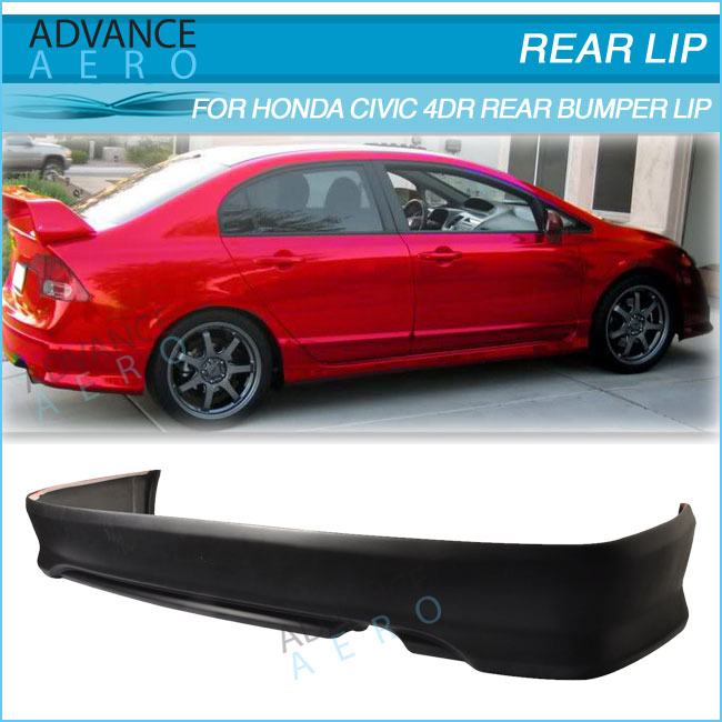 FOR 06-08 HONDA CIVIC 2DOOR HFP FRONT BUMPER LIP SPOILER BODYKIT POLY URETHANE