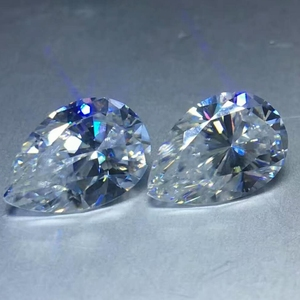 Factory making pear cut forever brilliant the same charles and colvard's Moissanite