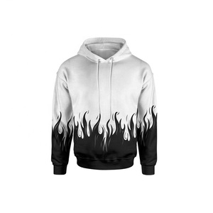Custom Design Sublimation Print White Frame Hoodies sweatshirt Pullover sweater hoodies