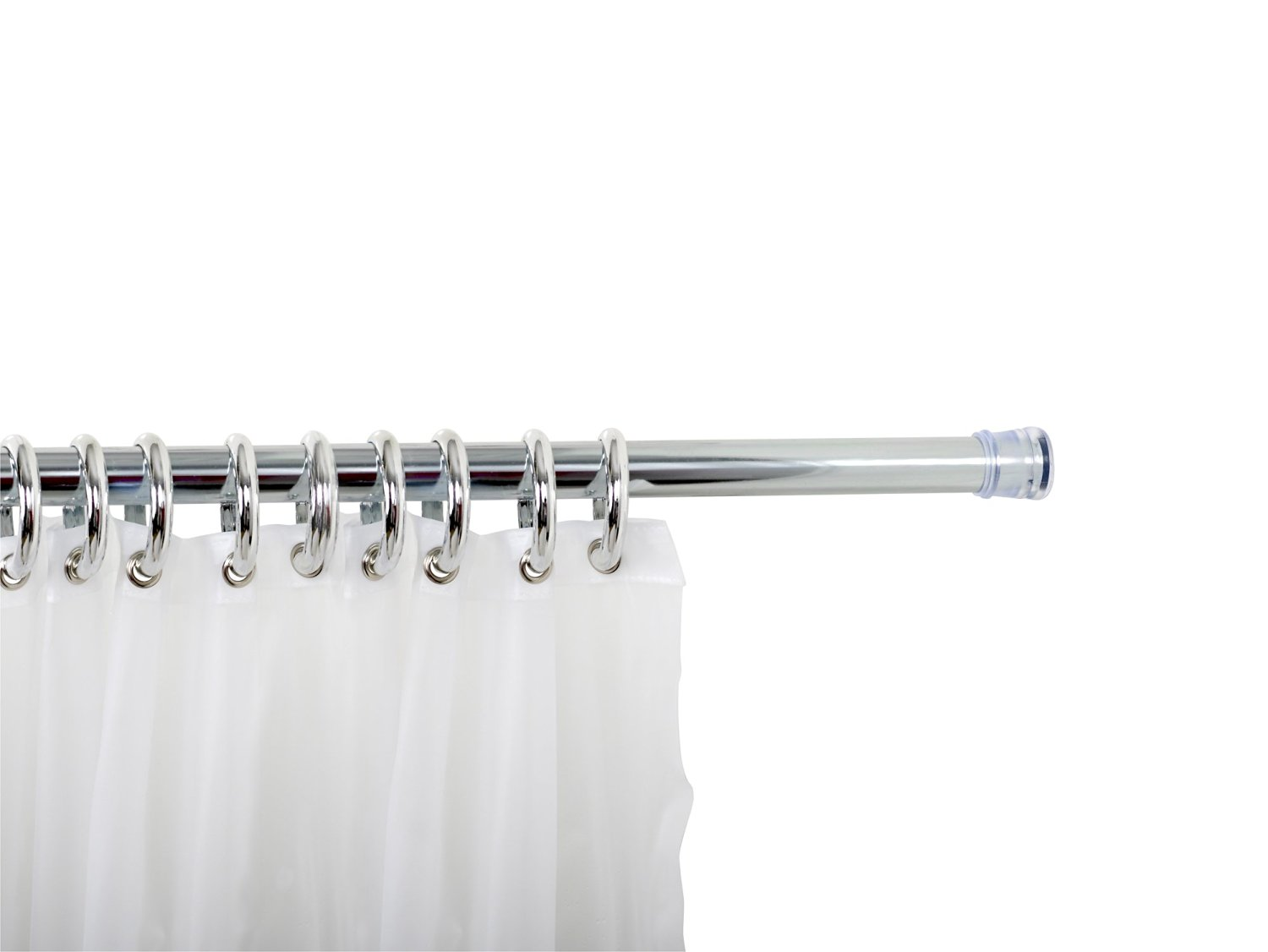 Zenna Home 683S, Shower Curtain Rod, Ring and Liner Combo Set, Chrome