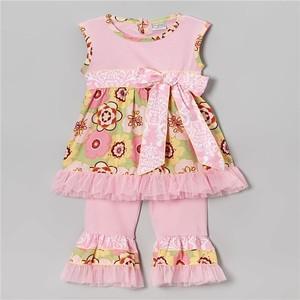 Wholesale pakistan quatrefoil suit clothing set Girls long sleeve