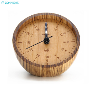 Factory Price Wholesale Custom Logo Personalized Desk Real Wood Clock