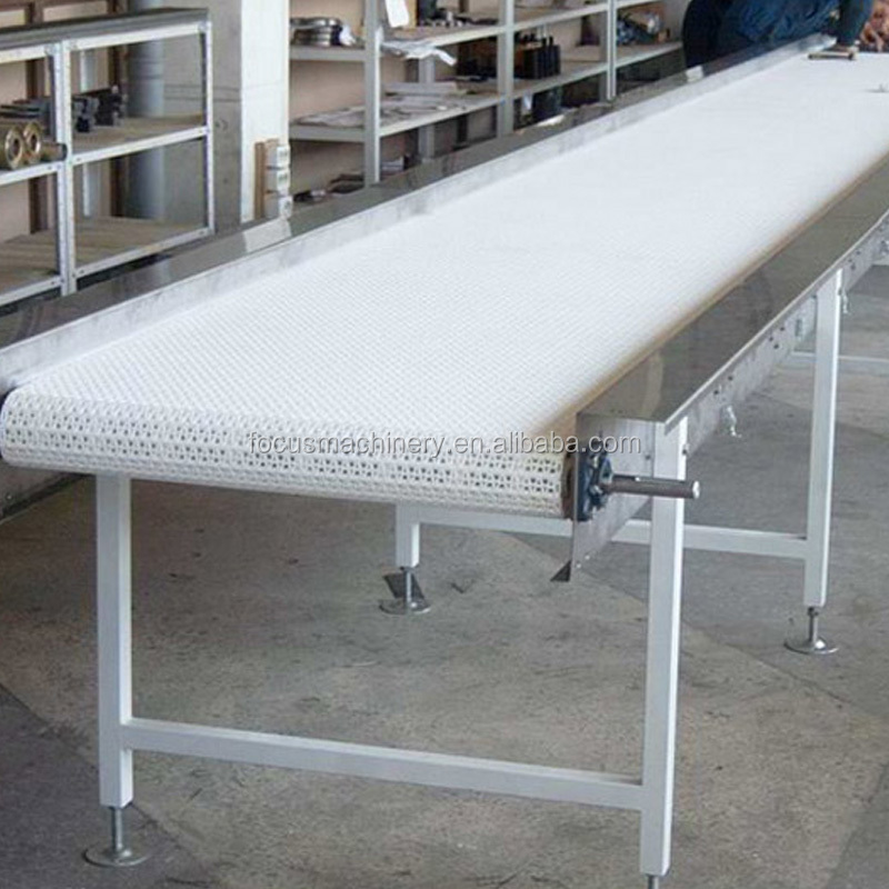 flat mesh belt conveyor for food industry materiel transport