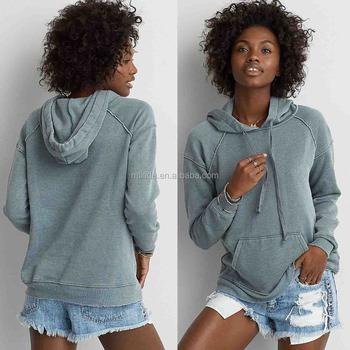 Oversized Hoodie Women Long Sleeve Plain Dyed Pocket Wholeslae Custom Made  in China Pullover Cute Hoodie a60b81031b