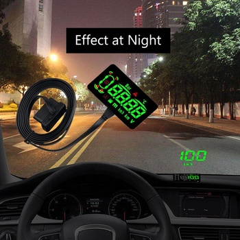 "With Anti-slip Pad HUD OBD2 Car Head Up Display Over speed alarm 4.3"" Screen Digital Car Speedometer Car Styling"