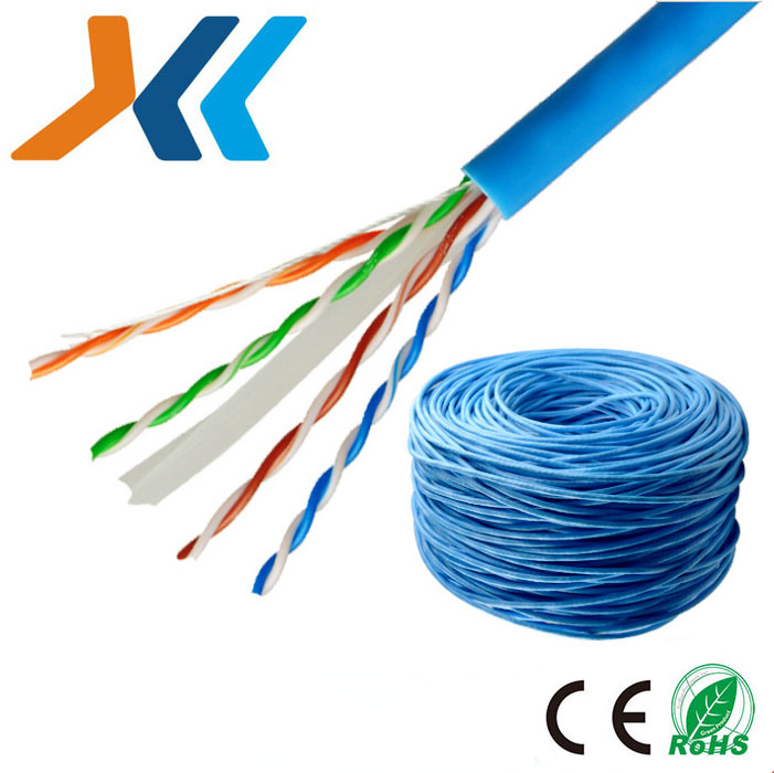 مصنع رخيصة الثمن 50ft UTP FTP STP cat6 4 زوج Cat5e الكمبيوتر كابل