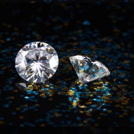 Good Cut Round Brilliant 1CT D Color Synthetic Moissanite <strong>Diamond</strong> Price Per Carat from manufacturer