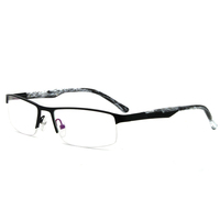 Designer Inspired Half Rim Fashion Women Metal Eyewear Optical Frames Glasses Eyewear 5040