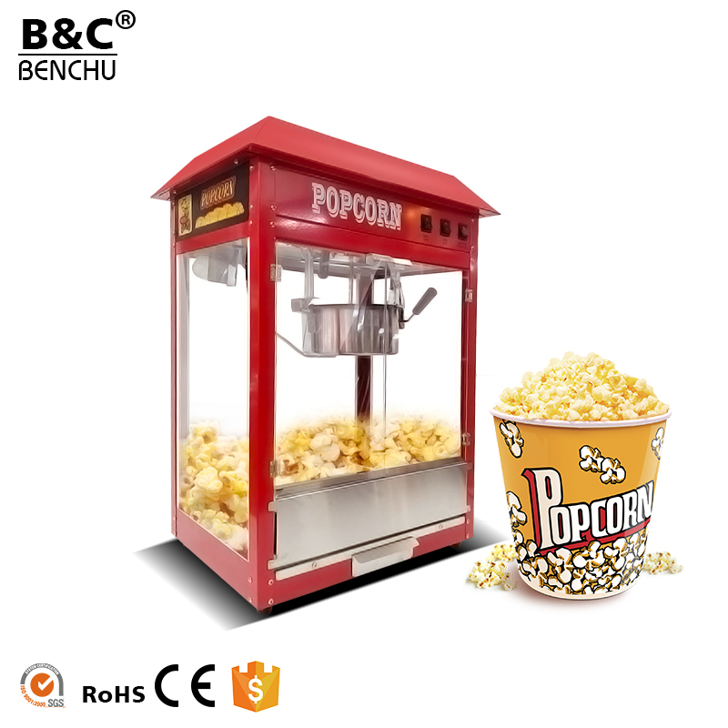 Automatic Electric Commercial Popcorn Machine Price, Industrial Popular Caramel Popcorn Popper