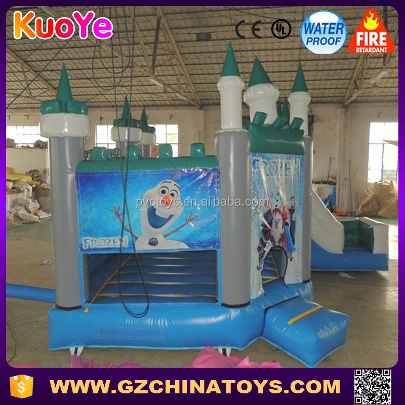 2016 hot sale frozen anna bouncer elsa bouncy castle slide
