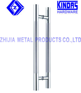 commercial 304 sus stainless steel glass door handle / H type double side glass door pull handle