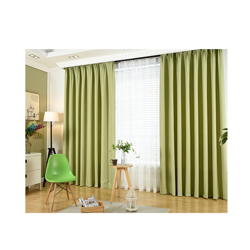Thick Linen Solid Color Blackout Curtain Fabric Custom Hotel Living Room  Bedroom Curtain Finished,Curtains Wholesale - Buy Curtain,Beaded  Curtain,Home ...