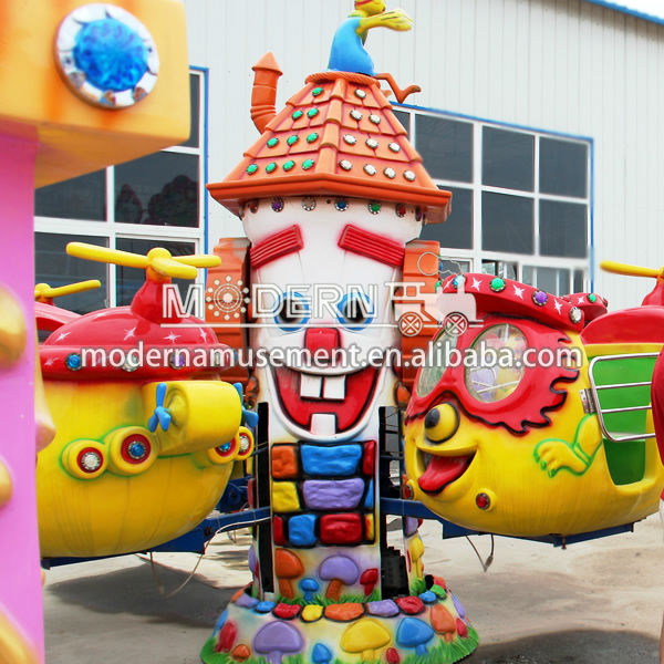 Outdoor Big Eye Airplane Park Rides Games For Kids