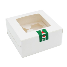 Box Wit gecoat met <span class=keywords><strong>logo</strong></span> sticky 4 stks doos cupcake