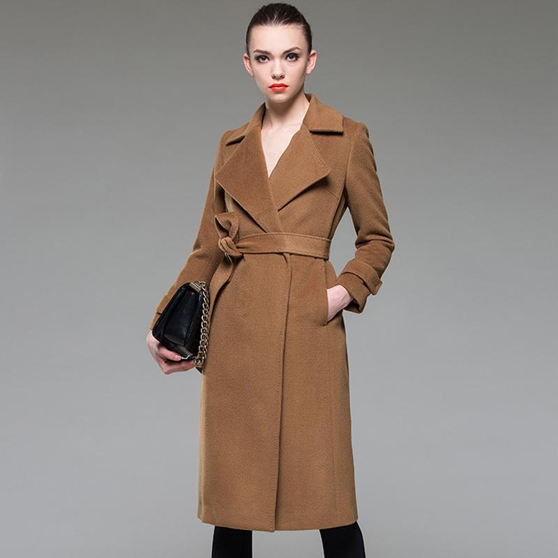 2015Autumn/Winter Woman plus size long coat vintage full