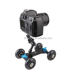 Premium Flex Skater Dolly Table top slider Super mute for DSLR camera and Camcorders