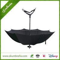Automatic straight golf stand walking stick umbrella seat