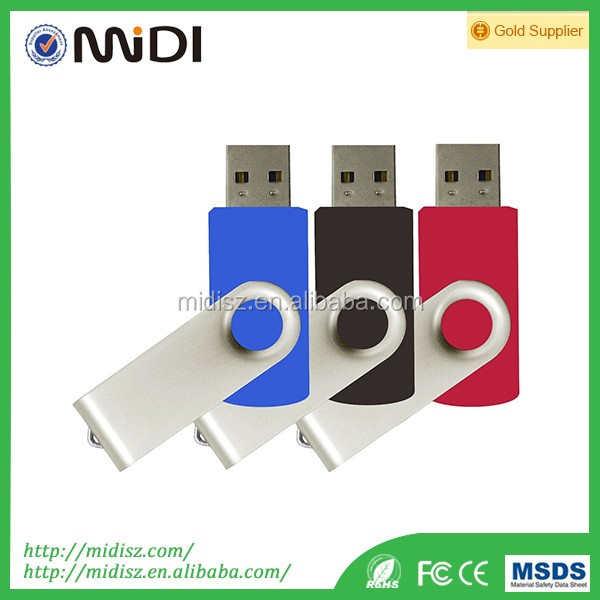 beautiful gifts swivel plastic metal material USB flash drive pendrive flash memory