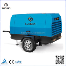 102 Psi 318 Cfm diesel driven compressed screw portable tankless air compressor