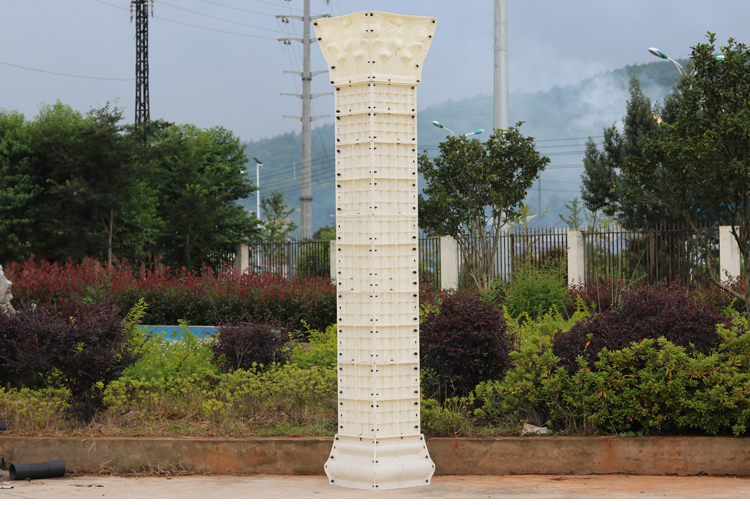 ABS Plastic 30cm x 370cm concrete square stripe pillars column molds for sale