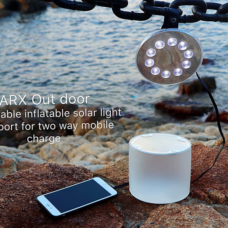 18650 Li-ion Battery Led Camping Lantern With Splittable Solar Inflatable Speaker