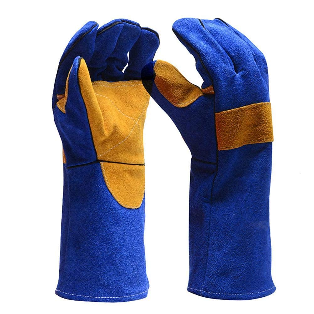 IMSHIE Welding Glove,Leather Forge Welding Gloves,Microwave Oven Gloves Fire Resistant High Temperature Resistant Glove Oven Gloves,Tig Welders, BBQ Grill, Mig, Pot Holder Handling