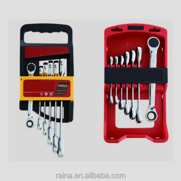 Double Offset Ring Ratchet Wrench / Spanner Set