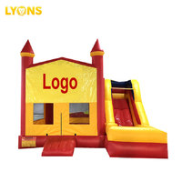 Commercial grade colorful inflatable bouncer combo inflatable bounce house with slide.
