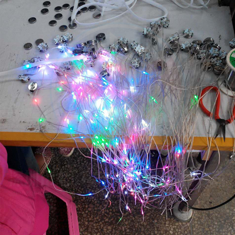 OEM Logo  LED Nylon Shoelaces For Adult Night Running  Minimum Order Accepted LED Flashing Nylon Shoelace