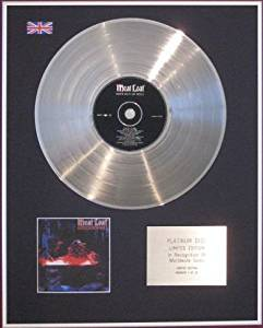 MEAT LOAF - Limited Edition CD Platinum Disc- HITS OUT OF HELL