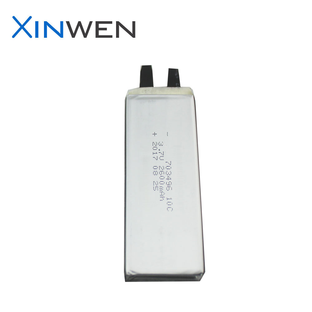 high rate XW 703496 10C 3.7v 2600mAh high discharge rate lipo battery