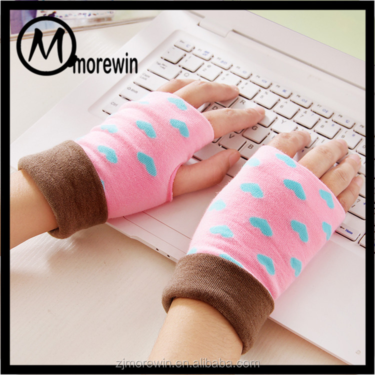 Morewin gloves amazon supplier cute fingerless women gloves typing knit gloves