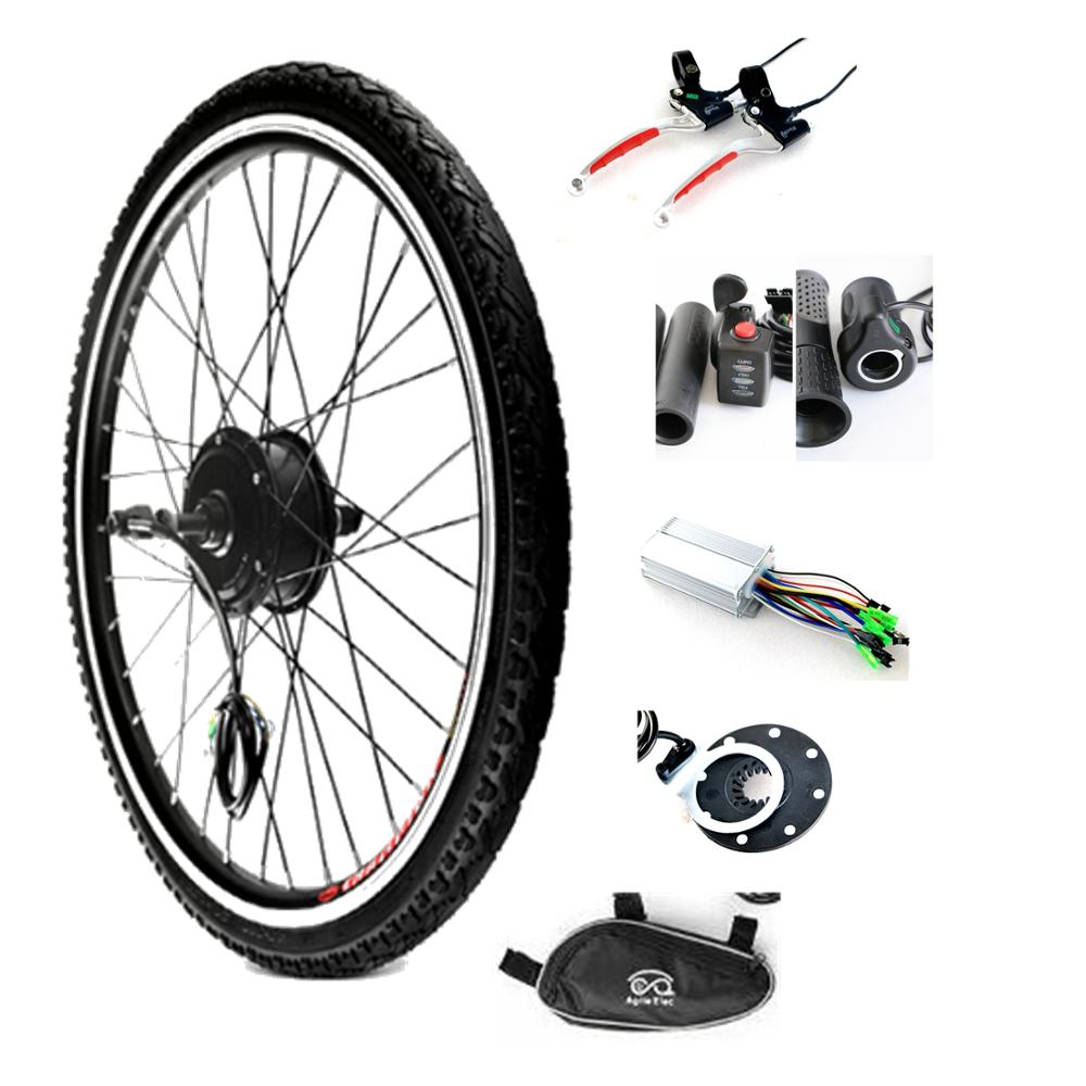 Agile 36v 250w 24 inch electric bike front rear wheel hub motor kit фото