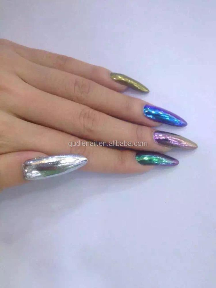 Nail art poudre miroir nail chrome poudre magique poudre for Miroir magique production