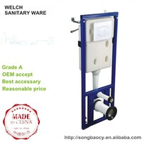 100DL small size mounted in the wall wall hung toilet concealed water cistern