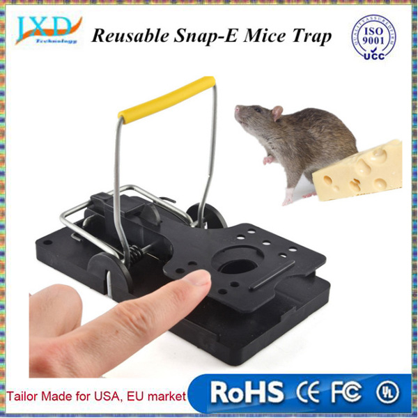 Mouse Trap Reusable Snap-E Control Rat Trap for Outdoor / Indoor Trap-Easy Set Catching Catcher mice killer