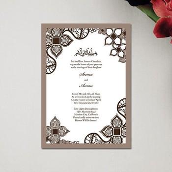 Fancy Design 2014 New Design Acrylic Muslim Wedding Invitation Card Buy Invitation Card Invitation Card Made In China Wedding Invitation Card