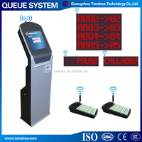 Wireless 1-8 Buttons Touch Screen Queue Management System Ticket ...