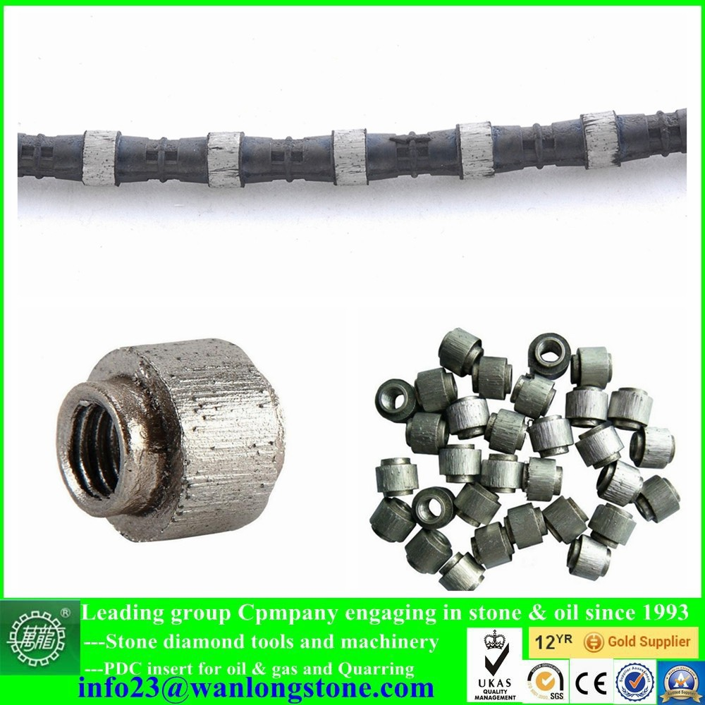 Machine tools cutting beads diamond wire saw for Granite quarry stone