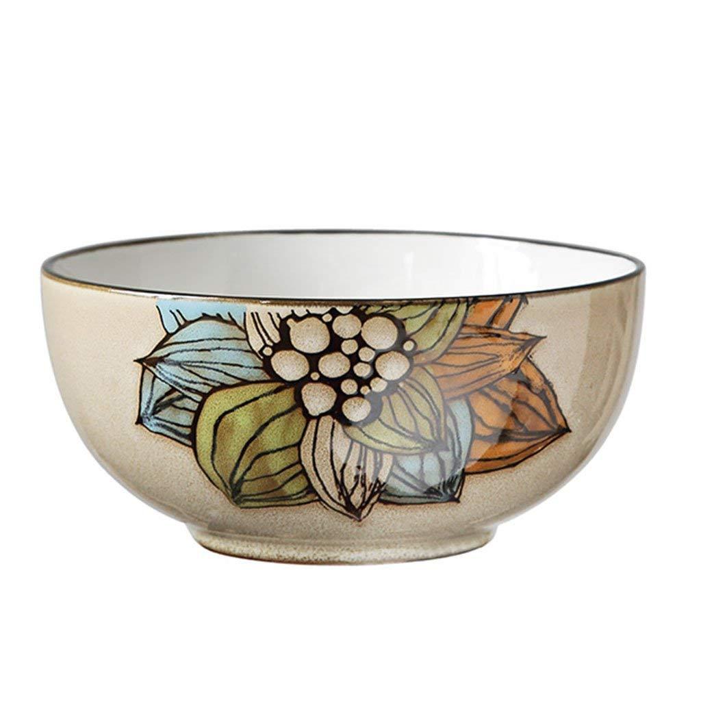 Ceramic Noodle Bowls Rice Bowls Soup Bowls Pasta Bowls Bowls Beige glaze Pattern 7in