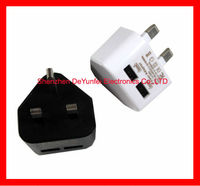 5V2A 2.5x0.8mm UK AC-DC Mains Charger 2 Port USB/MINI/MICRO with IC Travel Mobile Protable Phone Chargers For Meego