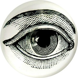 Vintage magnifying glass paperweight crystal 3d paperweight eye pattern